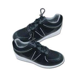 多功能纯牛皮黑色运动女鞋