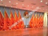 多功能厅舞台会议红旗 礼堂会议旗帜 十面红旗