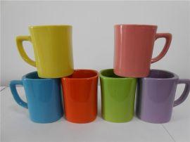 9OZ色釉陶瓷方杯厂家促销
