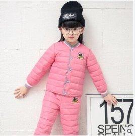 童套装微供2016冬季新款男女童中大童羽绒服套装两件套