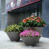 不鏽鋼花箱定製廠家 戶外圓形花鉢 酒店大堂裝飾花盆 景觀花鉢