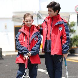 新款兒童幼兒園園服中小學生加厚衝鋒衣防風保暖套裝校服班服團購