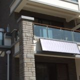 100L蓝膜整板平板阳台壁挂式平板太阳能热水器