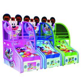 儿童新款米奇篮球机,新款动物造型投篮机,儿童电玩设备新款投币游戏机