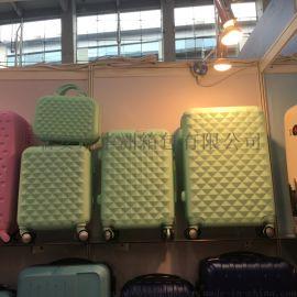 旅行箱三件套ABS纯色拉杆箱配色密码锁万向轮钻石纹