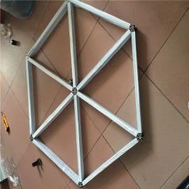 吊顶菱型铝格栅装饰材料