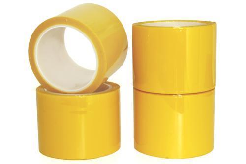 黄色PET硅胶带  黄色电气绝缘胶带