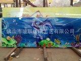 工艺 电视背景墙 彩绘 装饰玻璃 工程装修玻璃