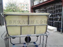服裝廠用四輪運輸漂染車,漂染廠用方形落布車,洗衣廠用玻璃鋼推衣車