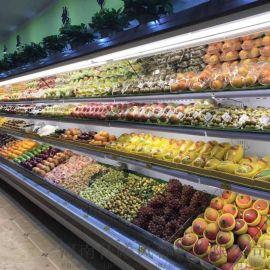 许昌水果风幕柜 专业定制超市风幕柜 水果蔬菜保鲜柜 饮料展示柜