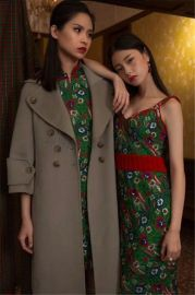 2017年新款欧美潮牌双面羊绒大衣名品折扣女装剪标专柜