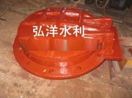直径400mm硬密封排水铸铁拍门安装