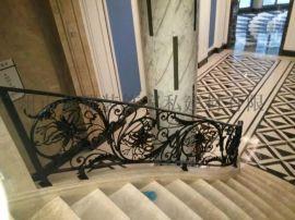 广州别墅楼梯定制 楼梯铁栏杆 铁楼梯栏杆