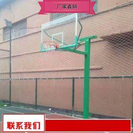 钢化玻璃篮板篮球架批量价优 地埋圆管篮球架供应