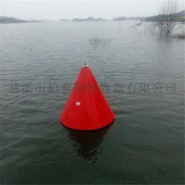 水面警示航标夜间带LED灯警示船只浮标报价