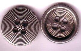 供应合金丝印logo服装四孔钮扣