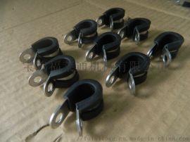 汽车线束管卡不锈钢材质套胶条