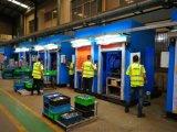新一代闊曼伺服焊接防護門主要用於自動化焊接防護