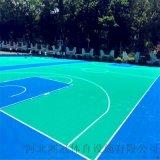 平頂山氣墊懸浮地板籃球場塑膠地板拼裝地板