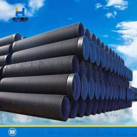 HDPE双壁波纹管钢带增强缠绕管