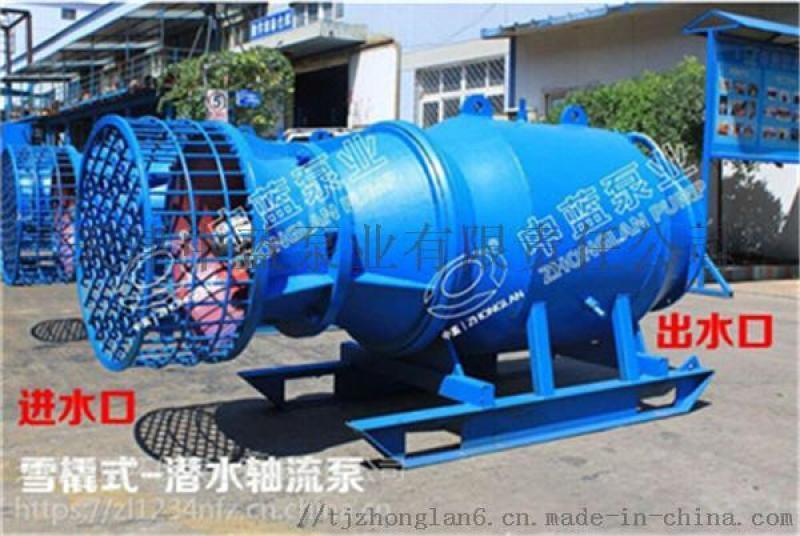 潜水轴流泵雪橇式350QZ-100 直销