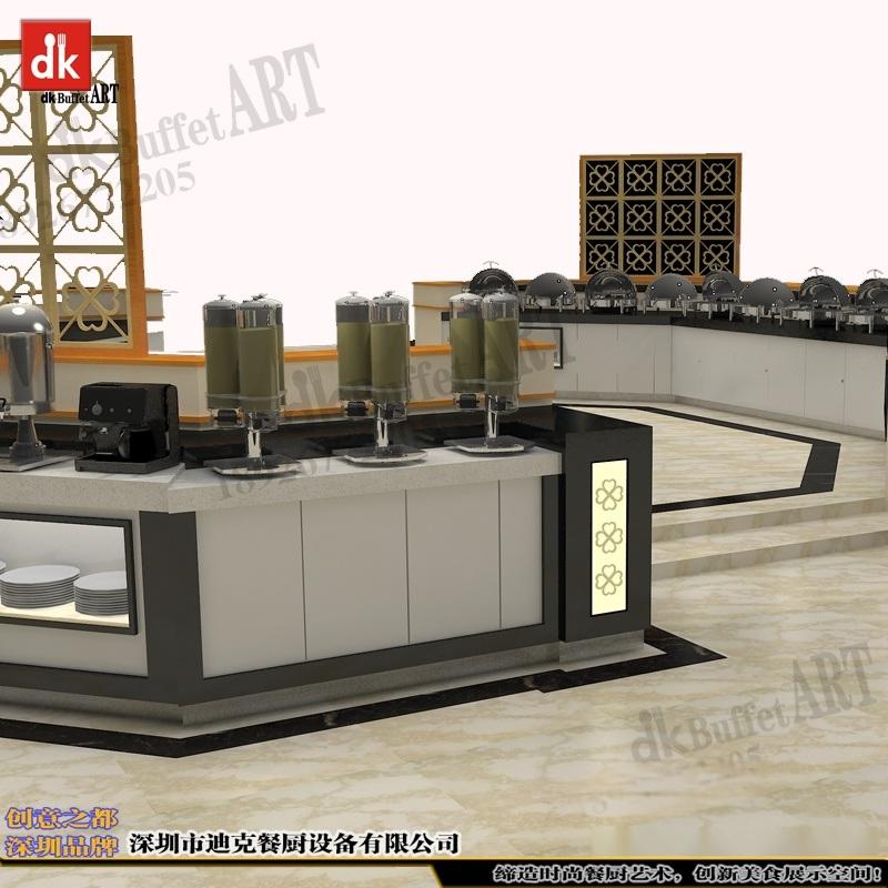 迪克餐厨设备酒店 自助餐台定制 移动式自助餐台组合式自助餐台 定制布菲台设计大理石可移动