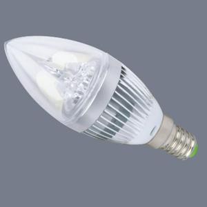 touve托维LED灯杯灯泡,3W E14小螺口,银色蜡烛泡