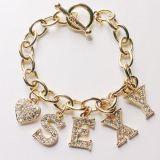 手鏈鑲鑽 金屬時尚手鏈 女式手鏈 夏天手鏈 模特手鏈 精鴻飾品