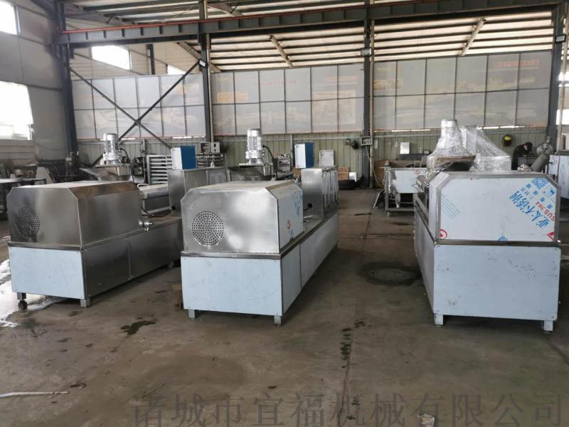 拉絲蛋白膨化機 素雞肉素牛肉生產加工設備