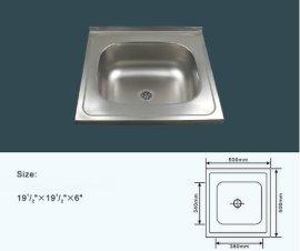 50*50不锈钢单盆洗菜盆 JZ-109