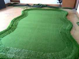 室内高尔夫推杆果岭,人工果岭