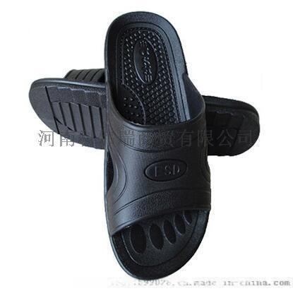 河南防静电黑色PU拖鞋生产厂家地址、无尘洁净SPU鞋PVC拖鞋