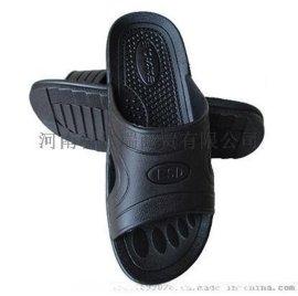 河南防靜電黑色PU拖鞋生產廠家地址、無塵潔淨SPU鞋PVC拖鞋
