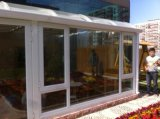 深圳鋁合金鋼化玻璃頂陽光房 隔熱斷橋鋁門封陽臺 弧形遮陽頂促銷