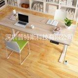 厂家直销 简约电动升降办公桌 优质智能遥控电动升降桌