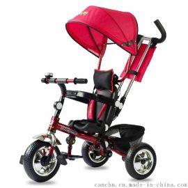 灿成折叠儿童三轮车脚踏车婴儿手推车宝宝三轮车 儿童避震三轮车 T018