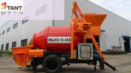 搅拌泵送一体机  搅拌式混凝土输送泵