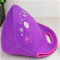紫色印花潜水料午餐包