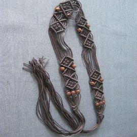 木珠编织腰带