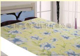 圣雪莱家纺1501双人用棉质百合花型印花毛巾被