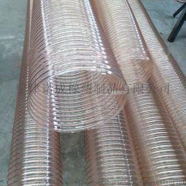 pu透明钢丝软管,pu钢丝除尘管、耐高温防冻耐磨