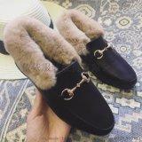 冬日毛毛鞋外穿2017新款韩版