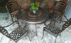 户外铸铝桌椅 户外金属桌椅 公园椅