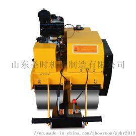 手扶大单轮压路机 小型柴油式手扶压路机