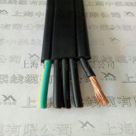 上海中柔TVVB3*2.5平方双钢丝柔性PVC护套耐高低温电梯随行电缆