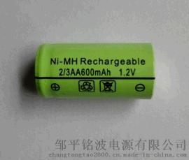 厂家直接供应铭波牌镍**2/3AA600mAh 1.2V剃须刀、电推剪充电电池