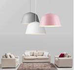 北歐AMBIT簡約創意彩色鋁材吊燈 客廳吧臺西餐廳辦公led燈具燈飾