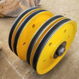 行车滑轮组批发 高标准滑轮片 起重机滑轮组材料 铸钢轧制滑轮组