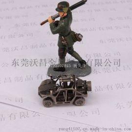合金玩具战车  模型合金小兵人甩铸加工