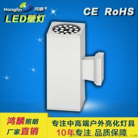 led方形戶外壁燈_方形18w戶外壁燈_大功率LED壁燈